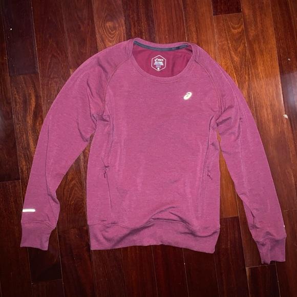 Asics Tops - Asics Women's Red Pullover